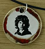 Echtes Kunsthandwerk: Toller Keramik Anhänger mit Jim Morrison; amerikanischer Sänger, Songwriter, Lyriker, the Doors