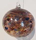 Kugel zum hängen bunte Glaskugel Ornament bunt gelüstert Fensterdekoration mundgeblasenes Kristallglas Durchmesser ca. 13 cm Oberstdorfer Glashütte