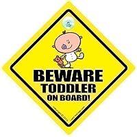 Beware Toddler On Board Car Sign, Baby On Board Sign, Toddler Car Sign, Baby On Board, Baby Sign, Unisex Baby on Board, Grandchild On Board, Decal, Bumper Sticker