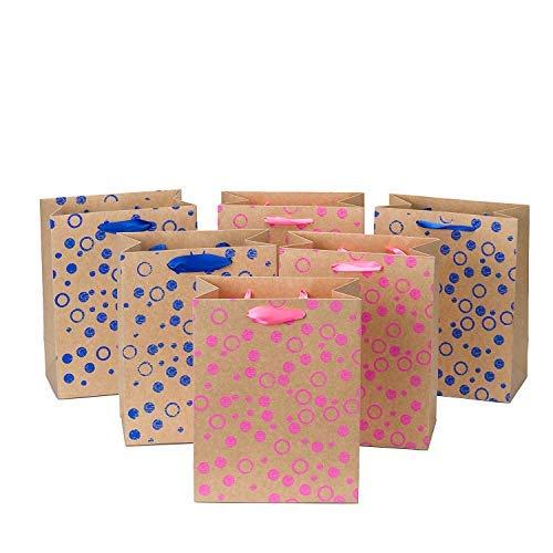 Loveinside mittlerer Größe Geschenk-Taschen-3D Eva Schaum Punkte Geschenk Tasche Set für Shopping, Partys, Hochzeit, Baby-Dusche, Craf-12Pack-18 X 10 X 23 cm (Geschenk-taschen Baby-dusche Für)