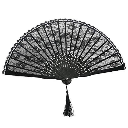 LEORX Handfächer Damen Vintage Retro spanische viktorianischen Hand Fan für Wedding Favor Fancy Dress
