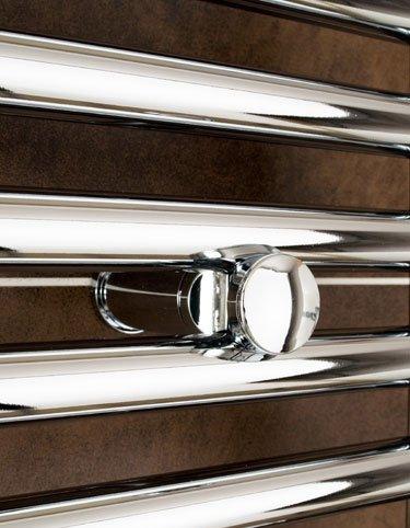 300mm Wide x 1600mm High Small Narrow Heated Towel Rail Straight Flat Chrome Bathroom Warmer Radiator Rack