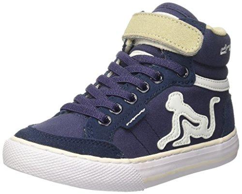 DrunknMunky Boston Classic, Chaussures de Tennis garçon Blu (Navy/Beige)