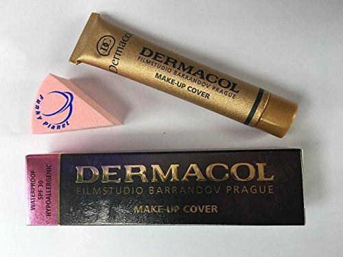 Dermacol Base de maquillaje, muy cubriente, hipoalergénica, con esponja