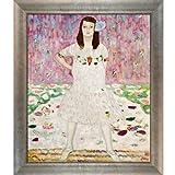 overstockArt Portraitbild Mada Primavesi von Klimt, Silberne Schaufel mit Wirbellippe und silberfarbenem Rahmen mit Champagnerfarben