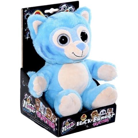 Blickfänger 14185 - Peluche Tiger Glitter in Box, Blue, 20 cm