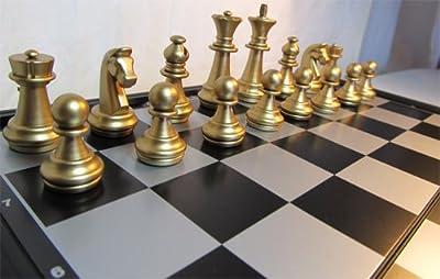 Chessebook Jeu d'Echecs de Voyage Magnétique 25 x 25 cm
