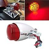 Sedeta Motorrad Motorrad Rote LED Brems Hör auf zu rennen Rücklicht Kunststoff Rot für Motorrad