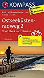 Fahrrad-Tourenkarte Ostseeküstenradweg 2, von Lübeck nach Usedom: Fahrrad-Tourenkarte. GPS-genau. 1:50000.: Fietsroutekaart 1:50 000 (KOMPASS-Fahrrad-Tourenkarten, Band 7031)