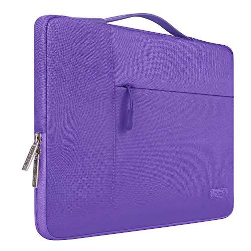 MOSISO Tasche Sleeve Hülle Kompatibel 15-15,6 Zoll MacBook Pro, Notebook Computer Multifunktionshülsen Spritzwasserfest Laptoptasche Handtaschen mit zusätzlichem Stauraum Polyester Hülle, Ultra Violet (15-zoll-laptop-lila)