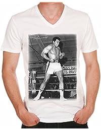 Mohamed Ali Boxing Star T-shirt,cadeau,Homme,Blanc,t shirt homme