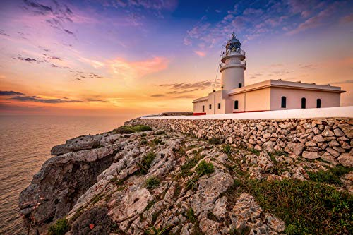 Voss Fine Art Photography Faro en la Isla de Menorca a Schöne Costa en el Amanecer.