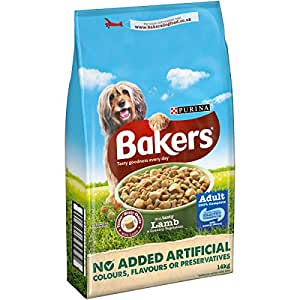 Purina Bakers Adult Lamb and Vegetable Dry Dog Food, 14 kg