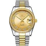 Best Rolex Watches - BUREI Men Women Business Quartz Wrist Watch Gold Review