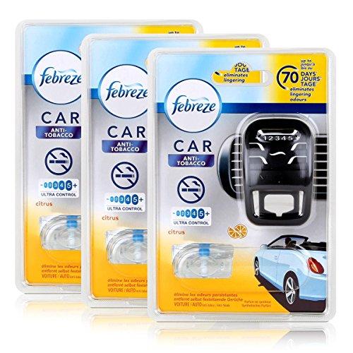 Febreze Car Fresh Escape Auto- Lufterfrischer Starter Anti-Tobacco (3er Pack) (Febreze Lufterfrischer Starter)