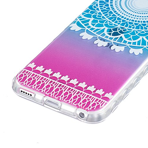 Ooboom® iPhone 8/iPhone 7 Hülle TPU Silikon Gel Handy Tasche Case Cover Flexibel Ultra Dünn für iPhone 8/iPhone 7 - Pinguin Totem Blume