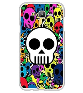 Multicolour Skulls Wallpaper 2D Hard Polycarbonate Designer Back Case Cover for Samsung Galaxy On7 G600FY :: Samsung Galaxy On 7 (2015)