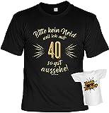 Cooles Geburtstagsgeschenk Leiberl für Männer T-Shirt Set mit Mini T-Shirt Bitte kein Neid weil ich mit 40 so gut ausehe! Leibal zum Geburtstag
