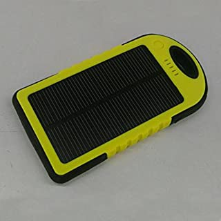 Jovabox Solarladegerät und Powerbank, 5000 mAh, wasser- / schmutz- / stoßfest, für iPhone 6, iPhone 5s, Android Turbo, iPhone 5, 4S, iPod, Samsung Galaxy S5, Galaxy S4, S3 und Note 4, Note 3, HTC one; LG G3; LG G2; Nexus; Moto X, Moto G, Blackberry