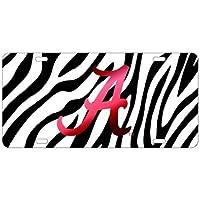 Preisvergleich für Zebra Print Alabama Crimson Tide verspiegelt Auto Tag Nummernschild von der Sport-Fan Store