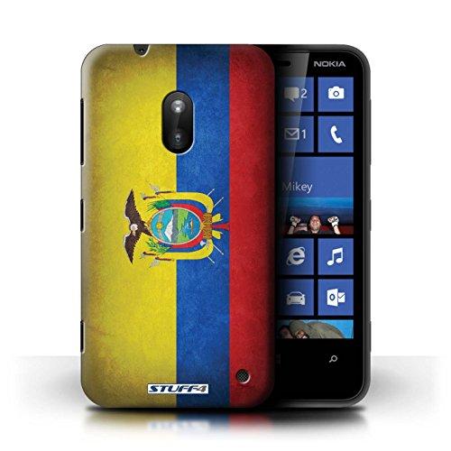 Kobalt® Imprimé Etui / Coque pour Nokia Lumia 620 / France/français conception / Série Drapeau Equateur/équatorien