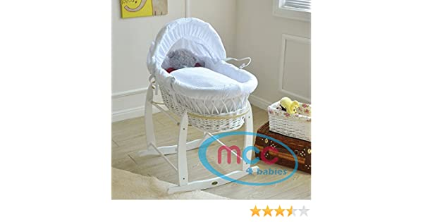 Mcc® weiden wiege komplettset moses korb baby korb mit matratze