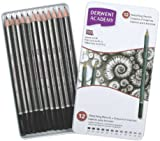 Derwent Academy Sketching Pencils Tin, 6B-5H - Set of 12