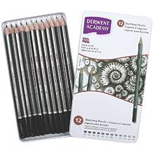 Derwent Academy Sketching Pencils Tin, 6B-5H - Set of 12