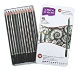 Derwent Academy Sketching Pencils Tin, 6B-5H - Set of 12 - Derwent - amazon.co.uk