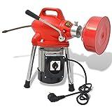 Festnight Rohrreinigungsmaschine 250W Rohr-Reiniger Reinigung Werkzeug 12,5mx16mm / 4,5mx9,5mm