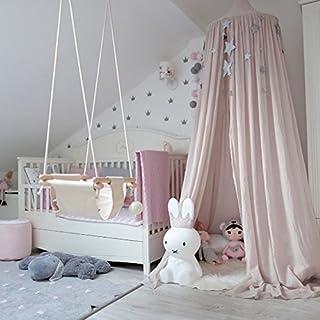 Kicode Kinder Kinder Baby Bettwäsche runden Dome Bett Canopy Netting Bettdecke Moskitonetz Vorhang Dekor