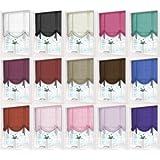 """Voile Plain Tie Blind Net Curtain Panels 59"""" Wide x 54"""" Drop (Cream)"""