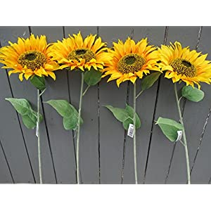 4 x Artificial grande girasoles