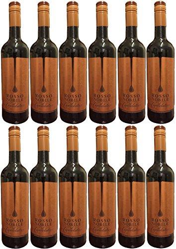 Rosso Nobile Al Cioccolata (12 X 0,75 L) - Aromatisierter Wein 10{8960d64936985c7fb8f091d0becc69df25b7a9ea194d5ab6e111c39109c88cfe} Vol.