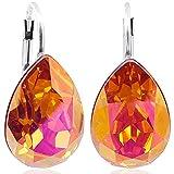 Ohrringe mit Kristallen von Swarovski® Silber Orange Pink NOBEL SCHMUCK