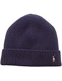 Ralph Lauren Men's Beanie Signature Merino Cuff Hat