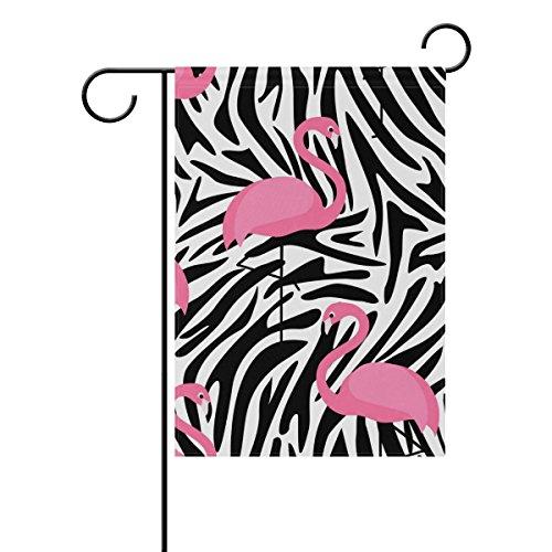 My Daily Flamingo Zebra Streifen Dekorative Doppelseitig Garden Flagge 12x 18& 71,1x 101,6cm 28 x 40 inch Multi -