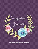 Migraine Journal: Self Care Daily Planner, Pain Tracker and Food Diary - Polka Dot Floral Wreath