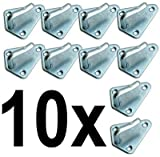 DWT de Alemania 10x 10de tres orificios de planificar Ganchos Tres orificios planificar para colgante Red lona para remolque Gancho abspann 50x 40