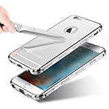Aluminum Metal Detachable Non Slippery & Anti Scratch & Mirror Case Cover Compatible with iPhone 6, iPhone 6s (4.7'') - Silver