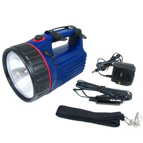 Como Direct Ltd TM batería Linterna doble luz halógena y LED lámpara