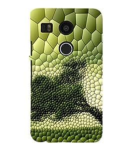 ifasho Designer Phone Back Case Cover LG Nexus 5 :: LG Google Nexus 5 :: Google Nexus 5 ( Colorful Pattern Design Green )