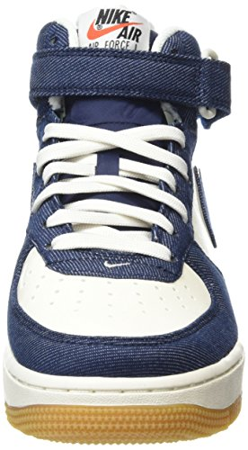Nike Air Force 1 Mid '07, Scarpe da Basket Uomo Multicolore (Obsidian/Obsdn-Sl-Gm Lght Brwn)