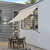 [pro.tec]® Toldo montando en la pared - Beige - 250 x 120 cm - Terraza Balcón Toldo extensible - Persiana de la ventana Exterior
