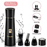 4 in 1 Electric Lady Shaver, Wet and Dry Bikini Trimmer, Portable Cordless