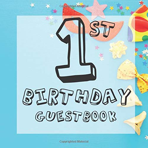 Masquerade Mask Ideen - 1st Birthday Guest Book: Blue Carnival
