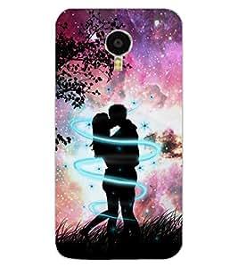 ColourCraft Loving Couple Design Back Case Cover for MEIZU BLUE CHARM NOTE 3
