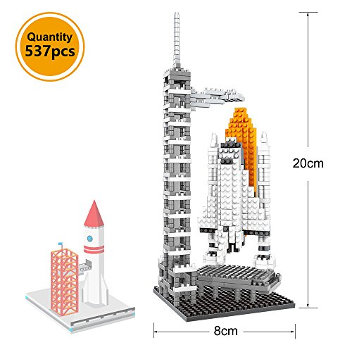 Nanoblocks - AMZtronics Nanoblocks Micro Blocks 3D Educational Intelligent Diamond Blocks 1017 pcs 3 in 1 Space Series-Rocket - Satellite and Moon Rover