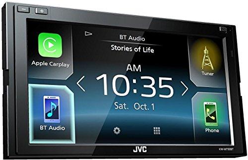"JVC KW-M730BT 200W Bluetooth Negro receptor multimedia para coche - Radio para coche (AM,FM, 87,9 - 107,9 MHz, 530 - 1700 kHz, 24/32 bit, 17,3 cm (6.8""), 0 - 20°)"