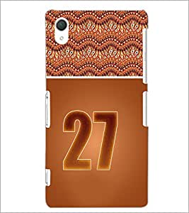 PrintDhaba Numerology Number 27 D-3662 Back Case Cover for SONY XPERIA Z2 (Multi-Coloured)